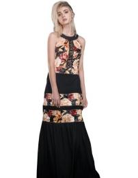Foursoul velvet lace dress