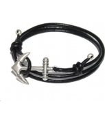 Cabo d'mar anchor leather black