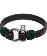 Cabo d'mar st.martin leather brown/green